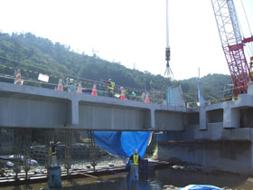 2012年度沖縄北部(西平橋橋梁撤去ワイヤーソー切断工事)